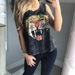Tiger Studded Top